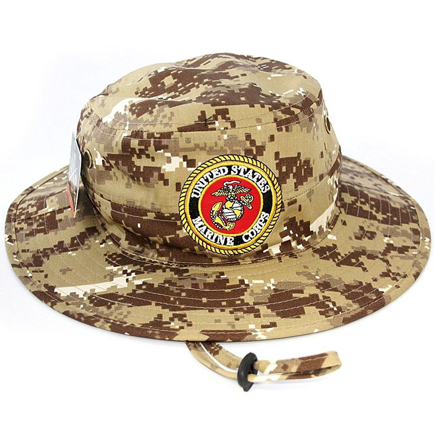 US Marine Corps Official Licensed Military Boonie Bucket Sun Hat Desert Camo  - CZ12JFSPG17 - Hats   Caps 7ac92dee2