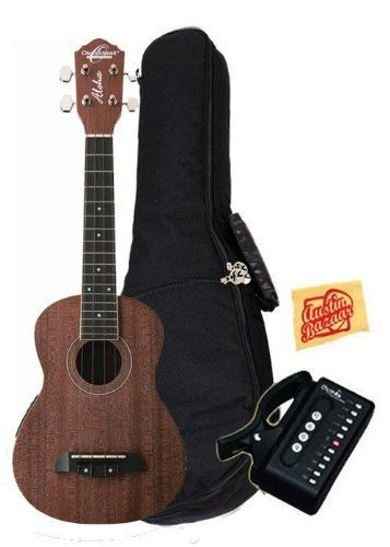 Oscar Schmidt By Washburn Ou2e Concert Acoustic Electric Ukulele Bundle With Gig Bag Tuner And Polishing Cloth Ukulele Musical Instruments Acoustic Electric
