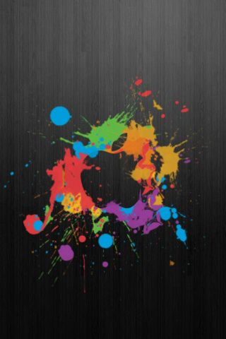Colorful Logo Design On Gray Background IPhone Wallpaper