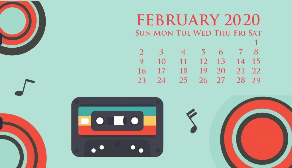 February 2020 Desktop Background Calendar In 2020 Desktop Wallpaper Calendar Desktop Calendar Calendar Wallpaper