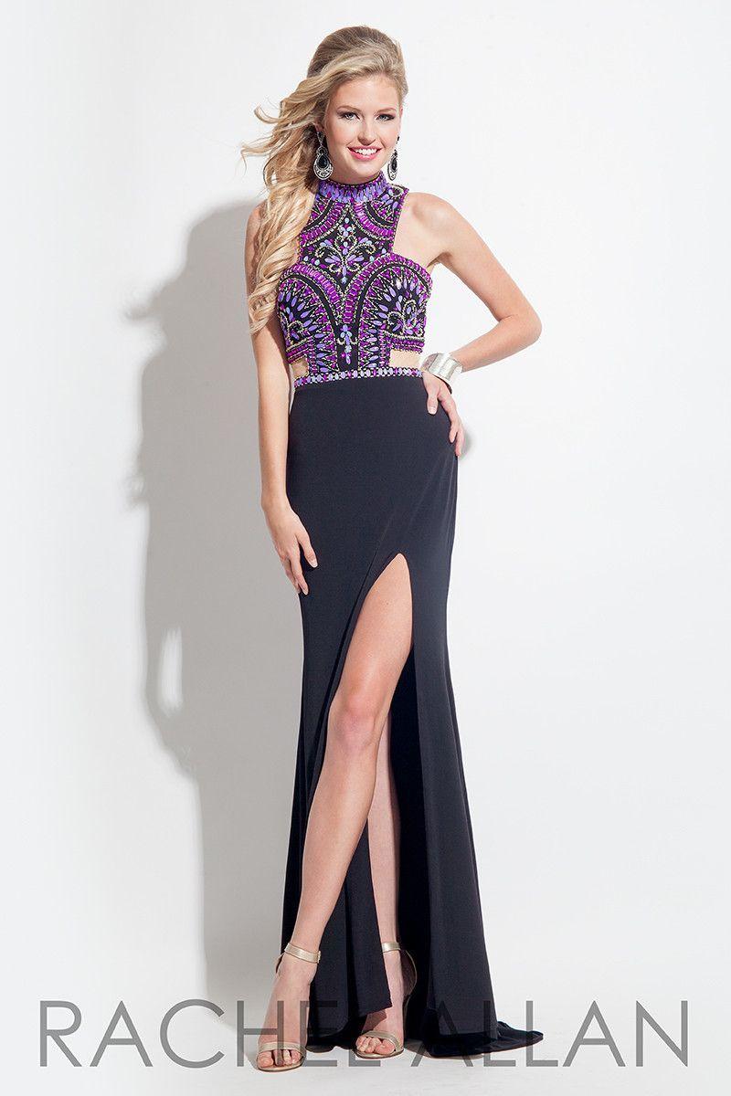 Rachel Allan Black & Purple Prom Dress sz. 8 | Products | Pinterest ...