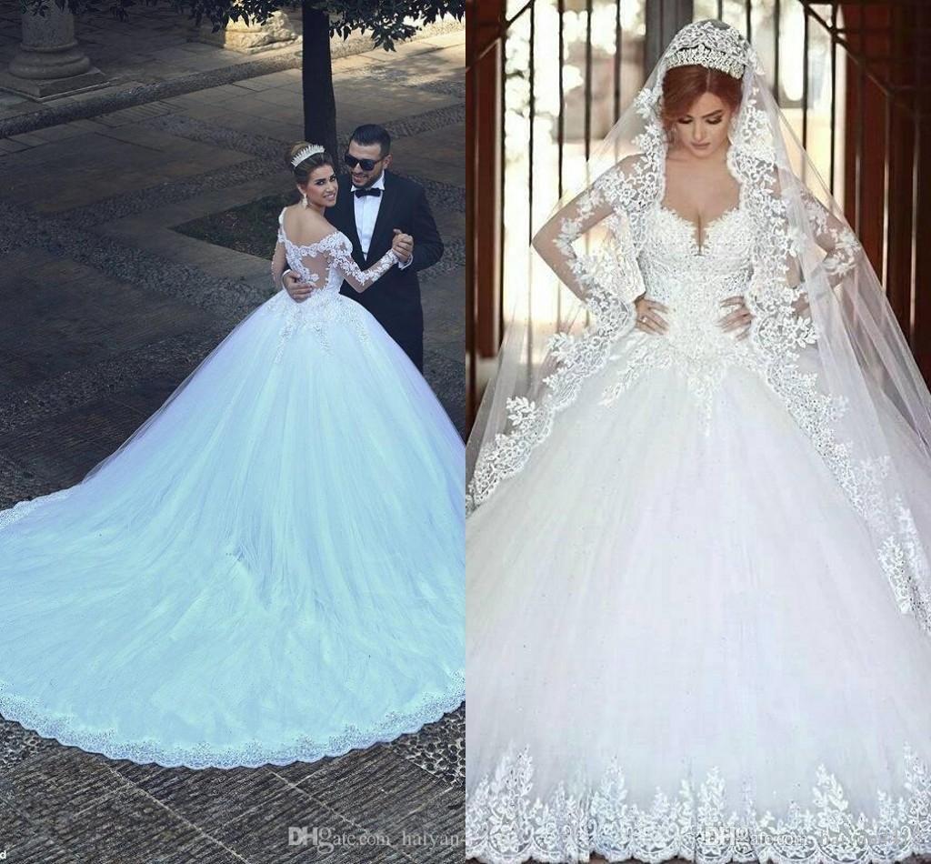 Blue plus size wedding dresses  Compre Ilusion Lace A Line Vestidos De Novia  Applique Primavera