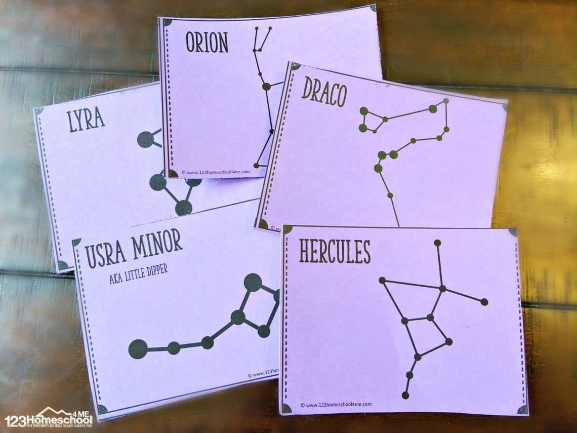 Free Printable Constellation Flashcards Star Constellations For Kids Constellations Flashcards [ 855 x 1140 Pixel ]