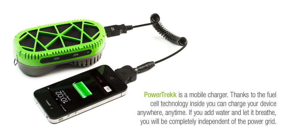 PowerTrekk hydrogen cell battery recharger! Soon I can