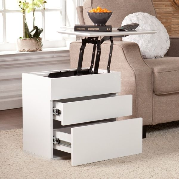 Harper Blvd Mosley White Lift Top Side Storage Table