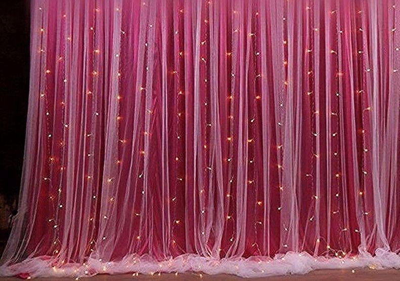 Backdrop Curtain Wedding In 2020 Tulle Backdrop Wedding