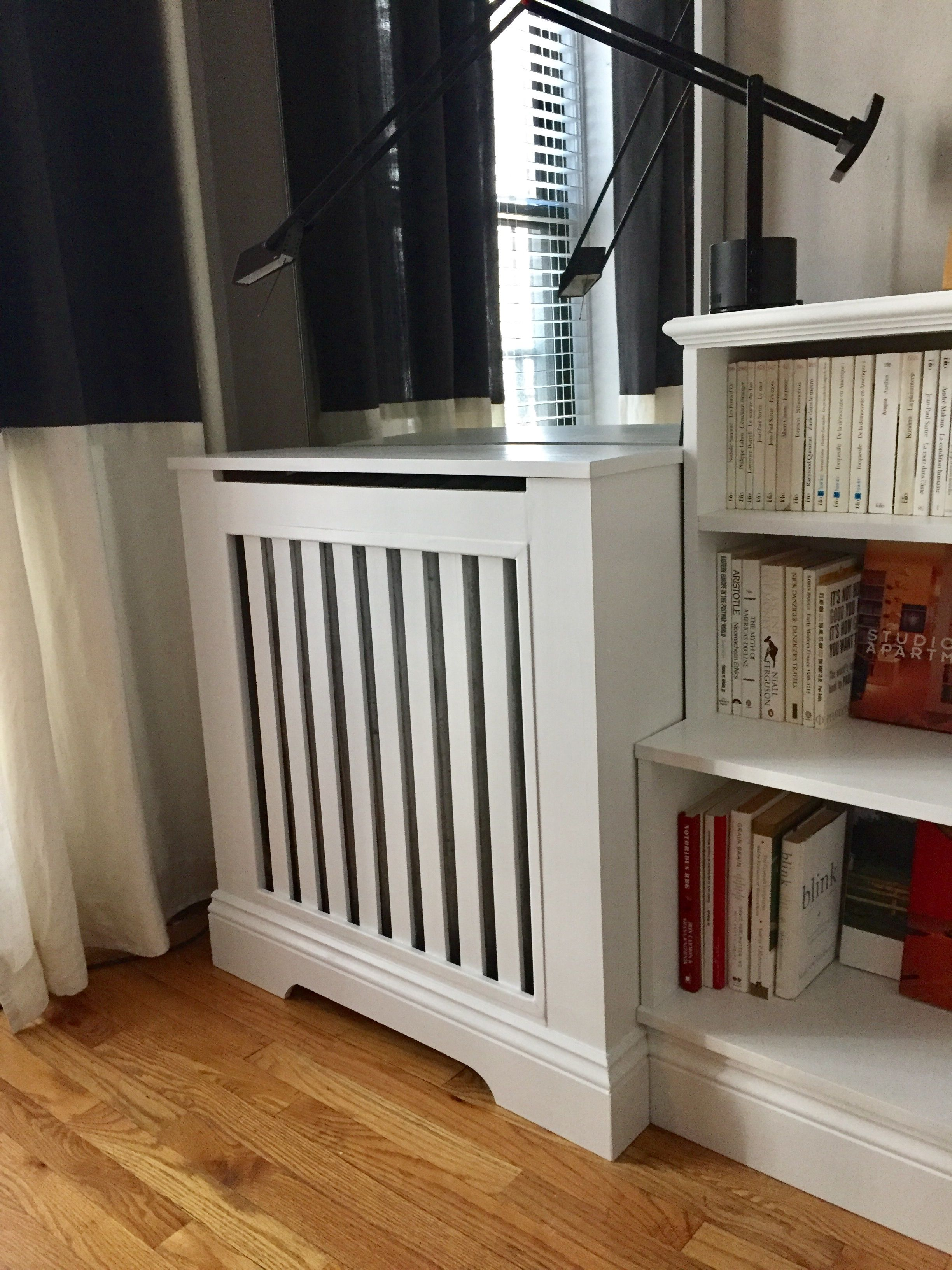 Diy Radiator Cover Made Using Pre Primed Pine Trim And White Paint Radiator Cover Diy Radiator Cover Radiators