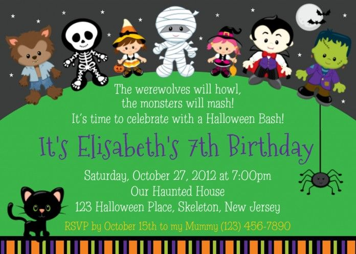 Invite Wording Halloween Birthday Invitations Halloween Birthday Party Invitations Birthday Halloween Party