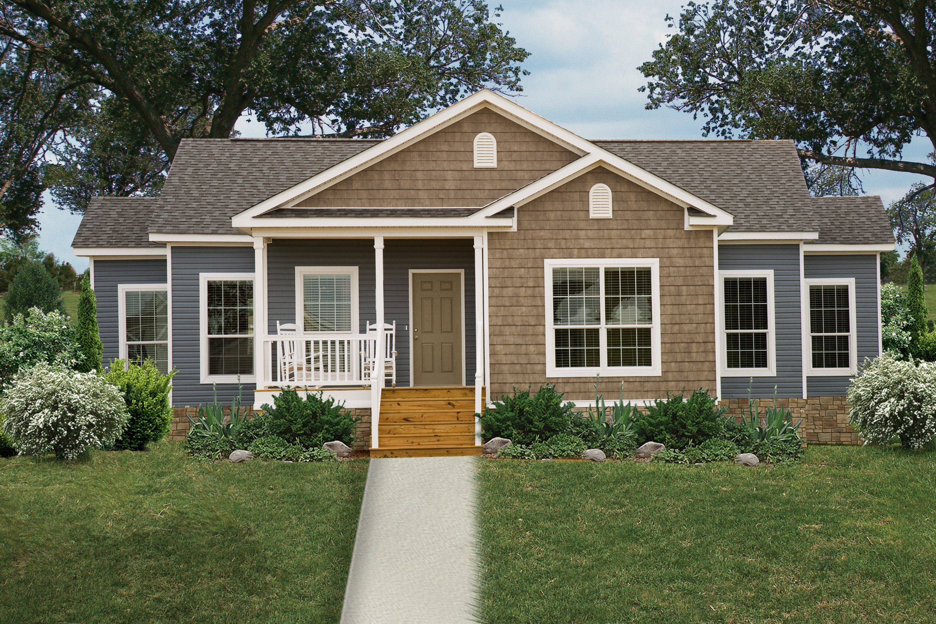 Manufactured And Modular Home Exteriors Across The Country With Images Clayton Homes Modular Homes Oakwood Homes