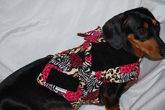 Wild Hearts Vest for Valentines Day by DownUnderDogDesigns on Etsy, $50.00