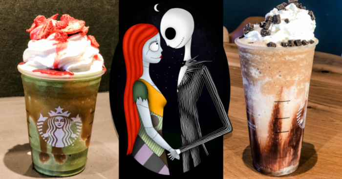 Here's How To Order The Jack And Sally Frappuccinos #starbuckssecretmenudrinks