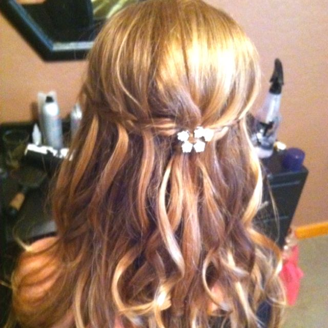 My hair for prom<3