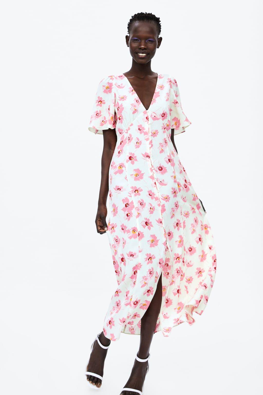 Floral Print Dress View All Dress Time Woman Corner Shops Zara United States Floral Print Dress Print Dress Dresses [ 1536 x 1024 Pixel ]