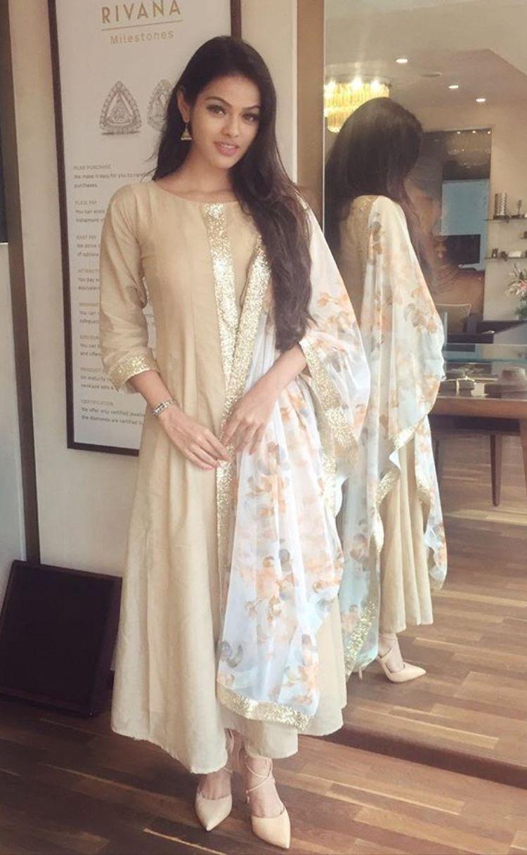 6c5c2348df simple elegant   To buy in 2019   Simple indian suits, Simple kurta ...