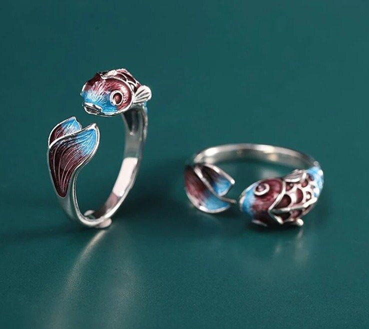 925 Sterling Silver Fish Ring, Fish Ring, Silver Ring, Adjustable Fish Ring, Ring for Her, Gift For Her, Handmade Jewelry, Good Luck Ring I am very glad to see you in our store! The Japanese Koi Fish - Symbolizing Good Luck, may luck be on your side! Our store sells only high-quality goods! We are based on the sale of jewelry such as necklaces, earrings. There is also such jewelry as bracelets, ankle bracelets, rings. We try to fully satisfy our customers and keep in touch with them from start t