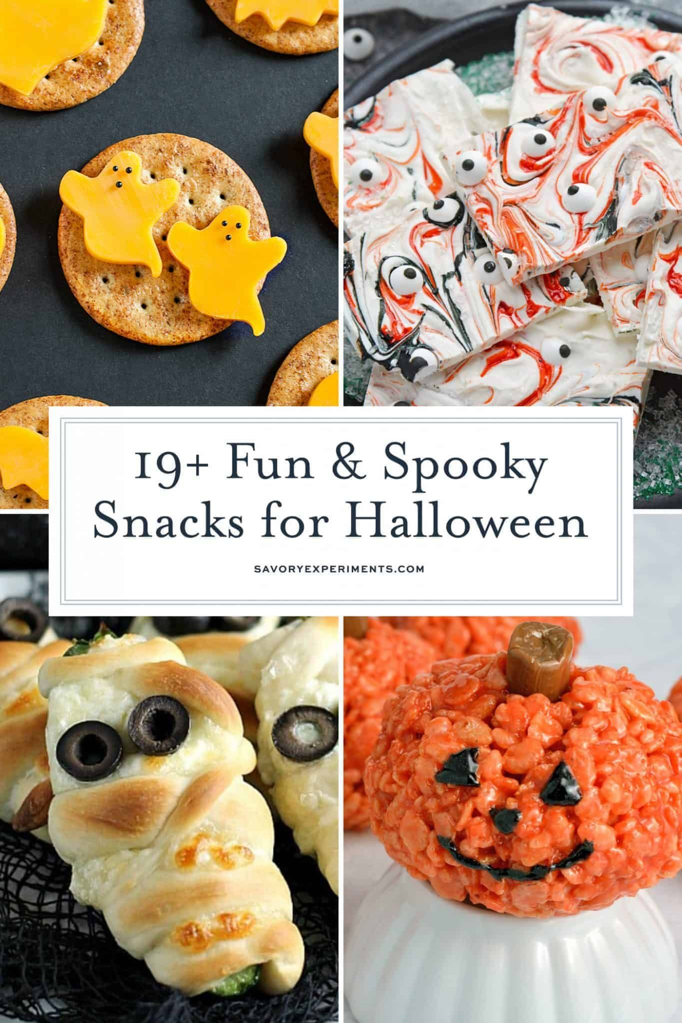 19 Fun And Spooky Snacks For Halloween In 2020 Spooky Snacks Fun Halloween Food Halloween Party Treats