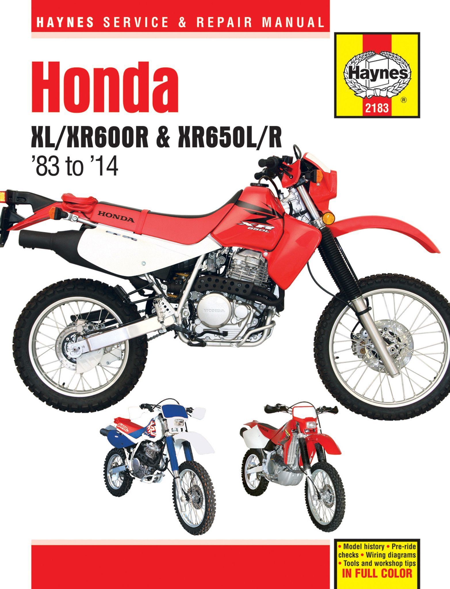 Haynes M2183 Service Repair Manual For 1983 14 Honda Xl Xr600r Xr350r Wiring Diagram Part Number Step By Procedures Easy To Follow Photos Complete Troubleshooting Section Valuable Short Cuts