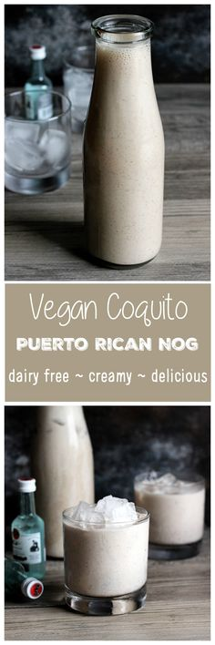 Vegan Coquito - A traditional Puerto Rican egg nog-like alcoholic beverage that's dairy free, creamy and sweet, just like the real thing. NeuroticMommy.com #vegan #holidays #beverages
