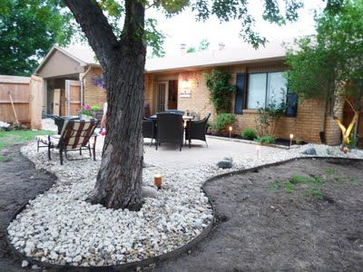 Great way to soften the hard lines of a square concrete ... on Square Concrete Patio Ideas  id=82742