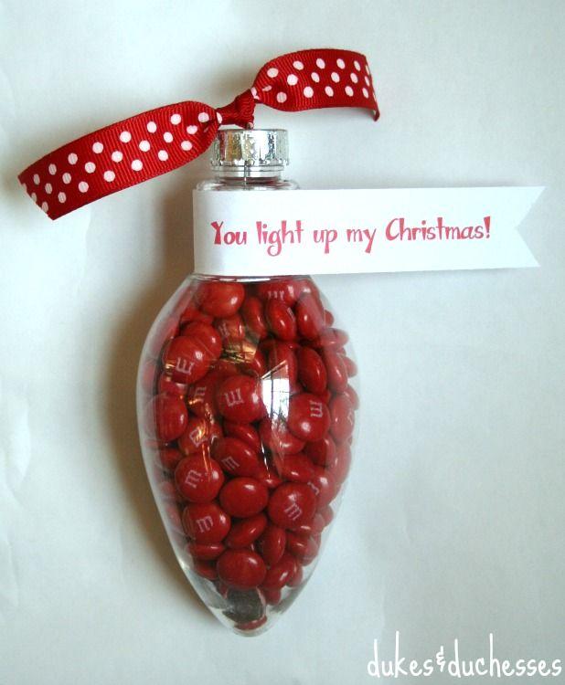 clear plastic bulb shape ornament   lightbulb ornament with M&M's #shop - Clear Plastic Bulb Shape Ornament Lightbulb Ornament With M&M's