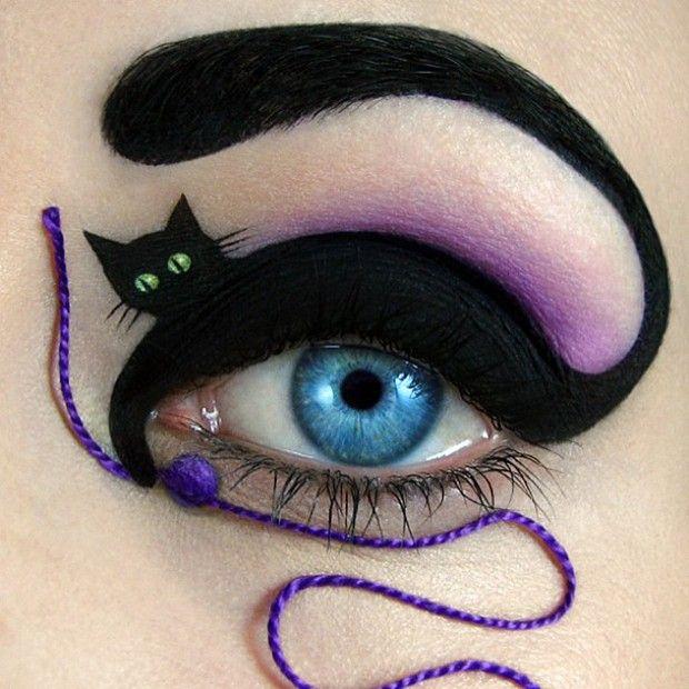 Os olhos como telas de pintura - http://epoca.globo.com/vida/vida-util/moda-e-beleza/noticia/2013/11/os-olhos-como-btelas-de-pinturab.html (Foto: Reprodução/Tal Peleg)