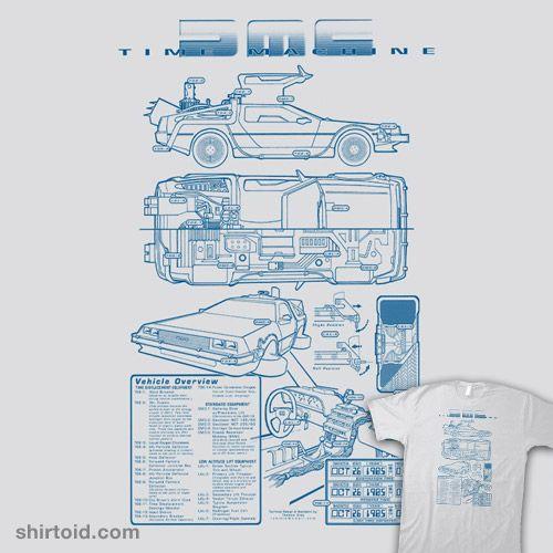 Time Machine Technical Blueprint #backtothefuture #blueprint ...