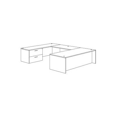 """Flexsteel Contract Fairplex Executive Desk with Right / Left Lateral File Size: 29"""" H x 71"""" W x 106.35"""" D"""