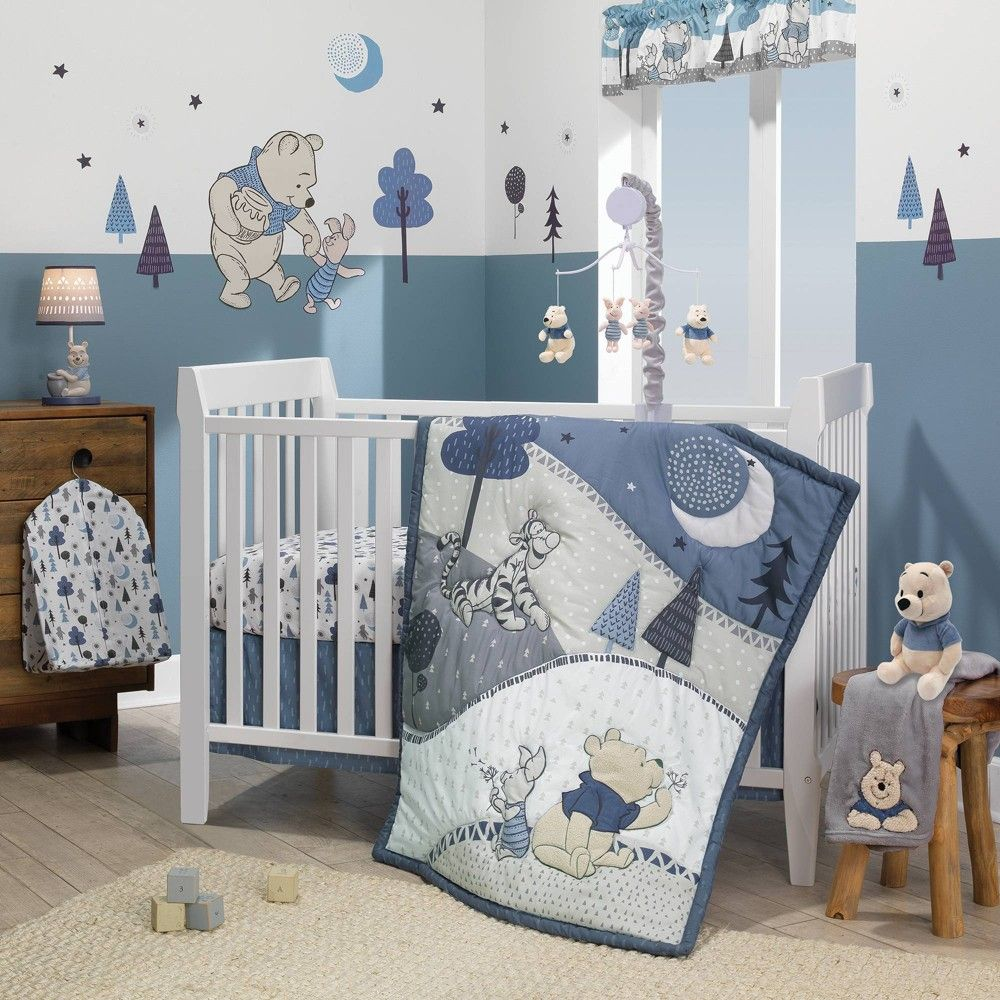 Lambs Ivy Disney Baby Nursery Crib Bedding Set Forever Pooh 3pc Disney Baby Nurseries Crib Bedding Sets Baby Crib Bedding Sets