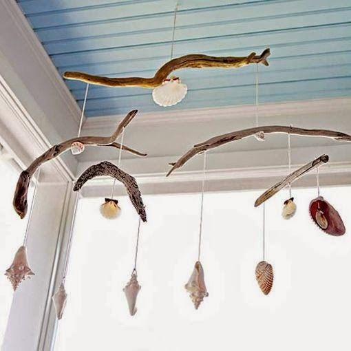 Móviles de caracolas y conchas de mar | Mi Casa es Feng