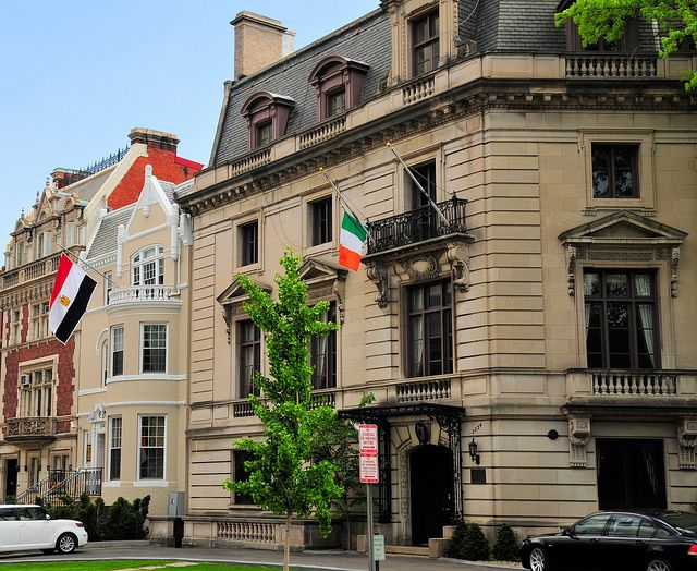 Irish And Egyptian Embassy Washington Dc Embassy Row Washington