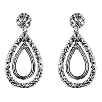Sterling Ivy Pear Drop Open Earrings by Charles Krypell - 645-01588