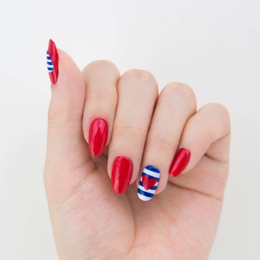60 best ideas about 4th Of July Nail art | Nail art - nails - diy ...