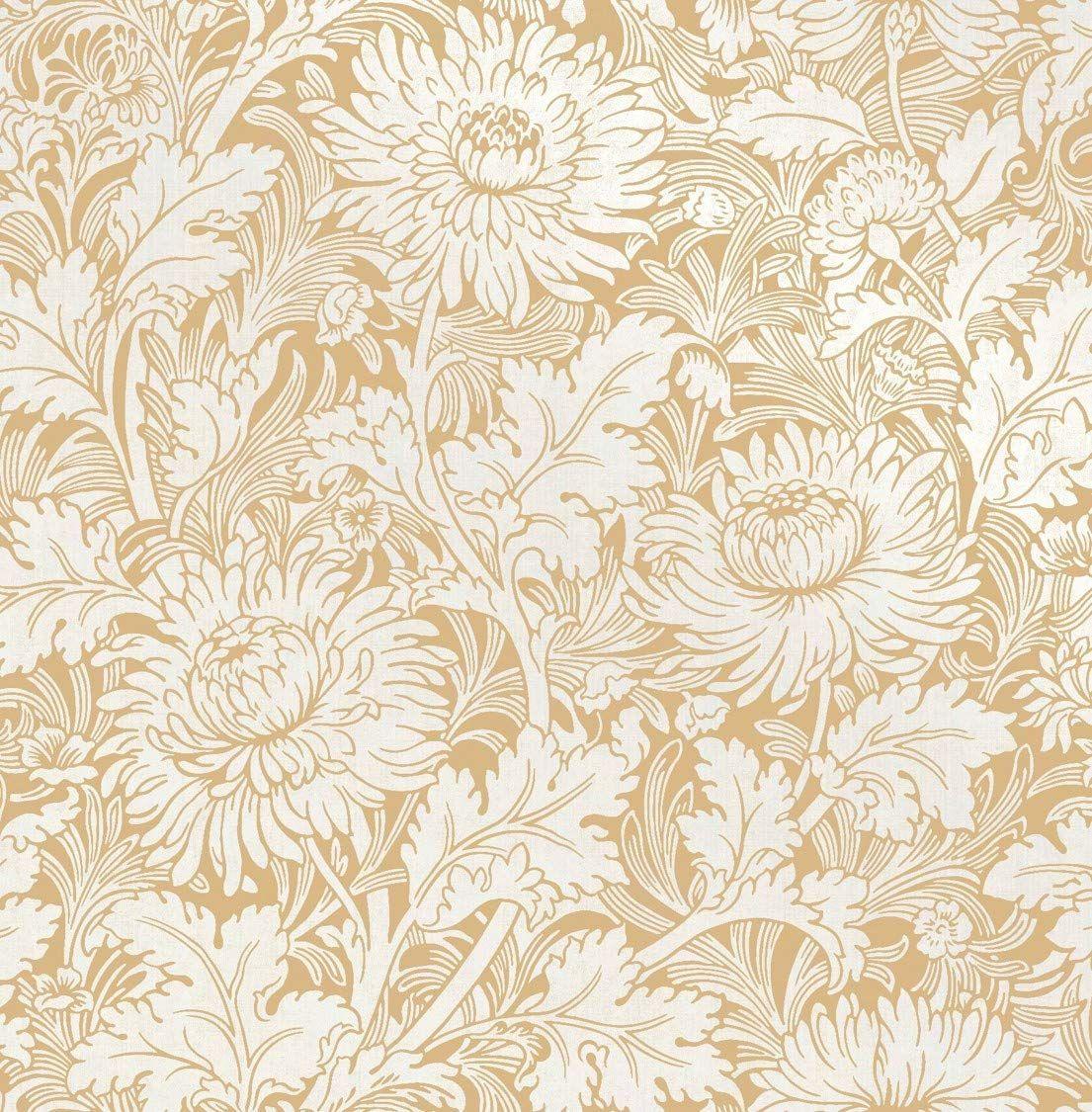 Fine Décor FD42528 Sandringham Floral Mustard Wallpaper