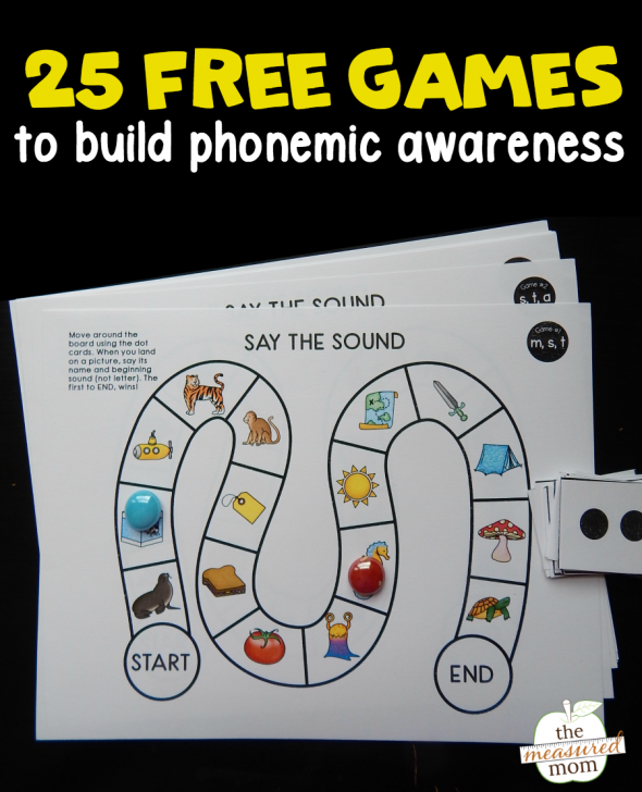 25 phonemic awareness games - The Measured Mom