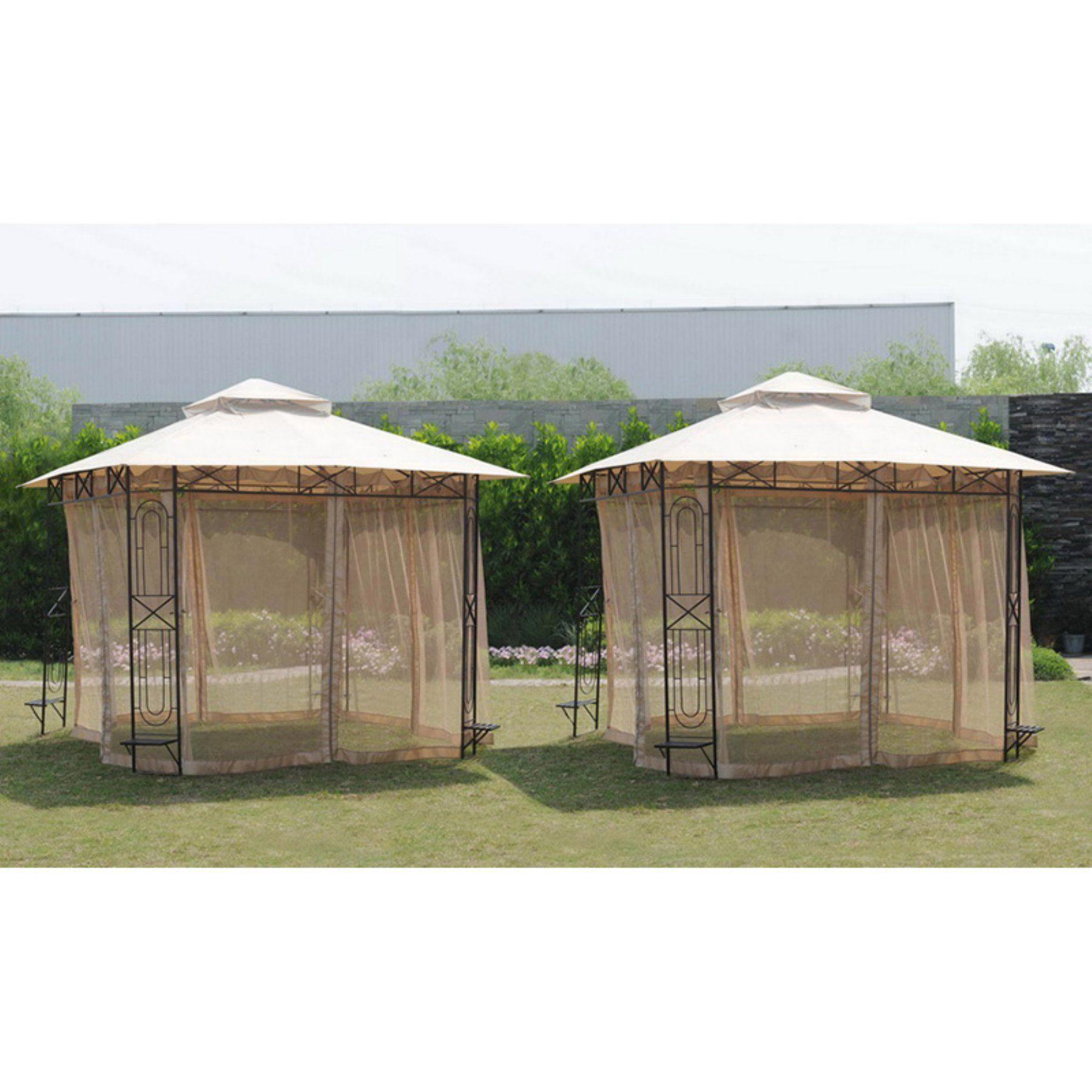 Sunjoy Replacement Mosquito Netting For 10 X 10 Ft Gazebo 110109557 Gazebo