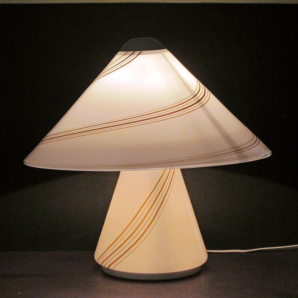 Mid Century Modern Italian Art Glass Table Lamp Murano Vistosi Inspired Modern Table Lamp Art Glass Table Lamp Modern Table Lamp Design
