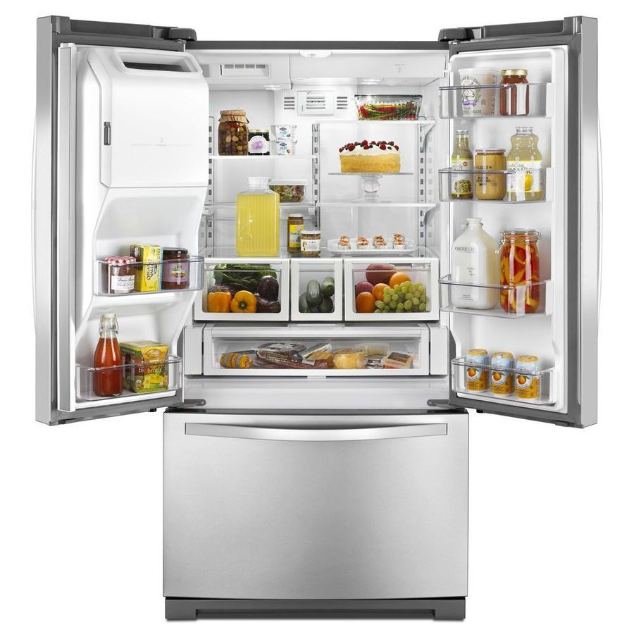 Lowes whirlpool white ice collection - Shop Whirlpool 24 7 Cu Ft French Door Refrigerator With Single Ice Maker Stainless Steel
