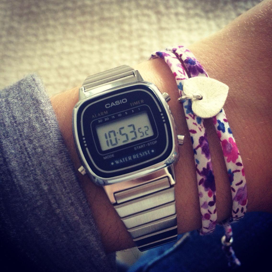 Vintage Casio Silver Watch Casio Watch Women Casio Silver Watch Stylish Accesories