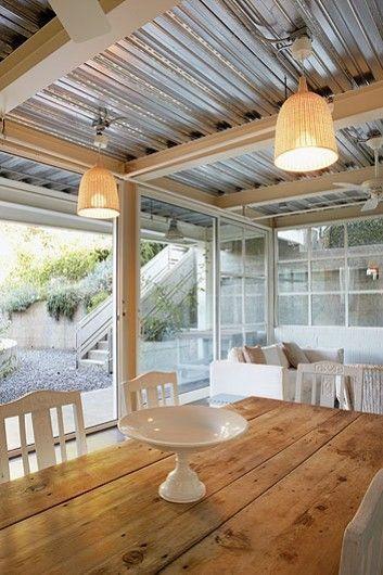 UMA CASA EM LOS ANGELES Metal roof deck Pinterest Techo de