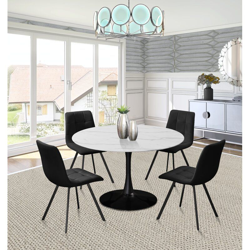 Sevinc Dining Table White Round Dining Table Modern White Table Dining Table