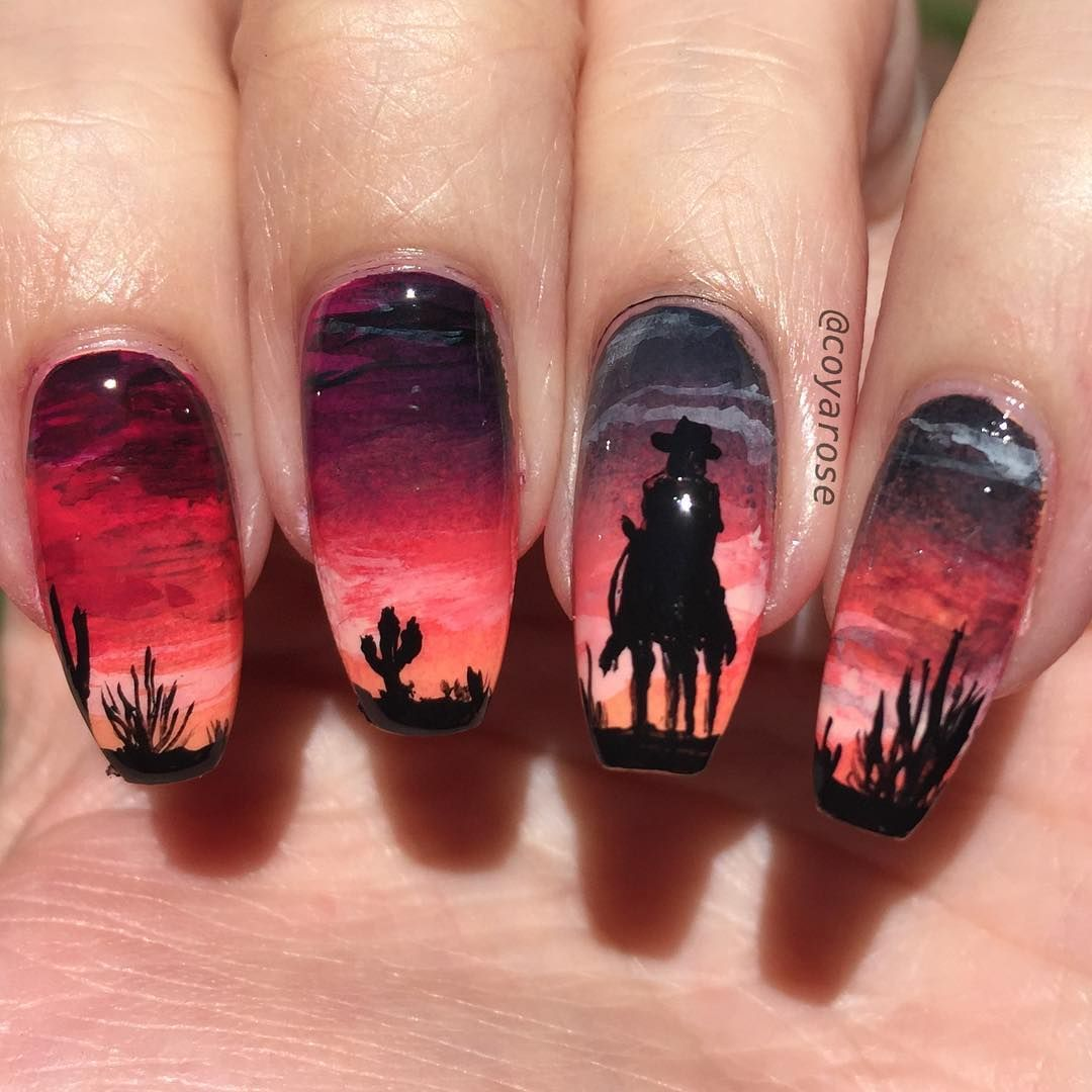 Horse nail art using UberChic Wild West stamping plates | Royal ...
