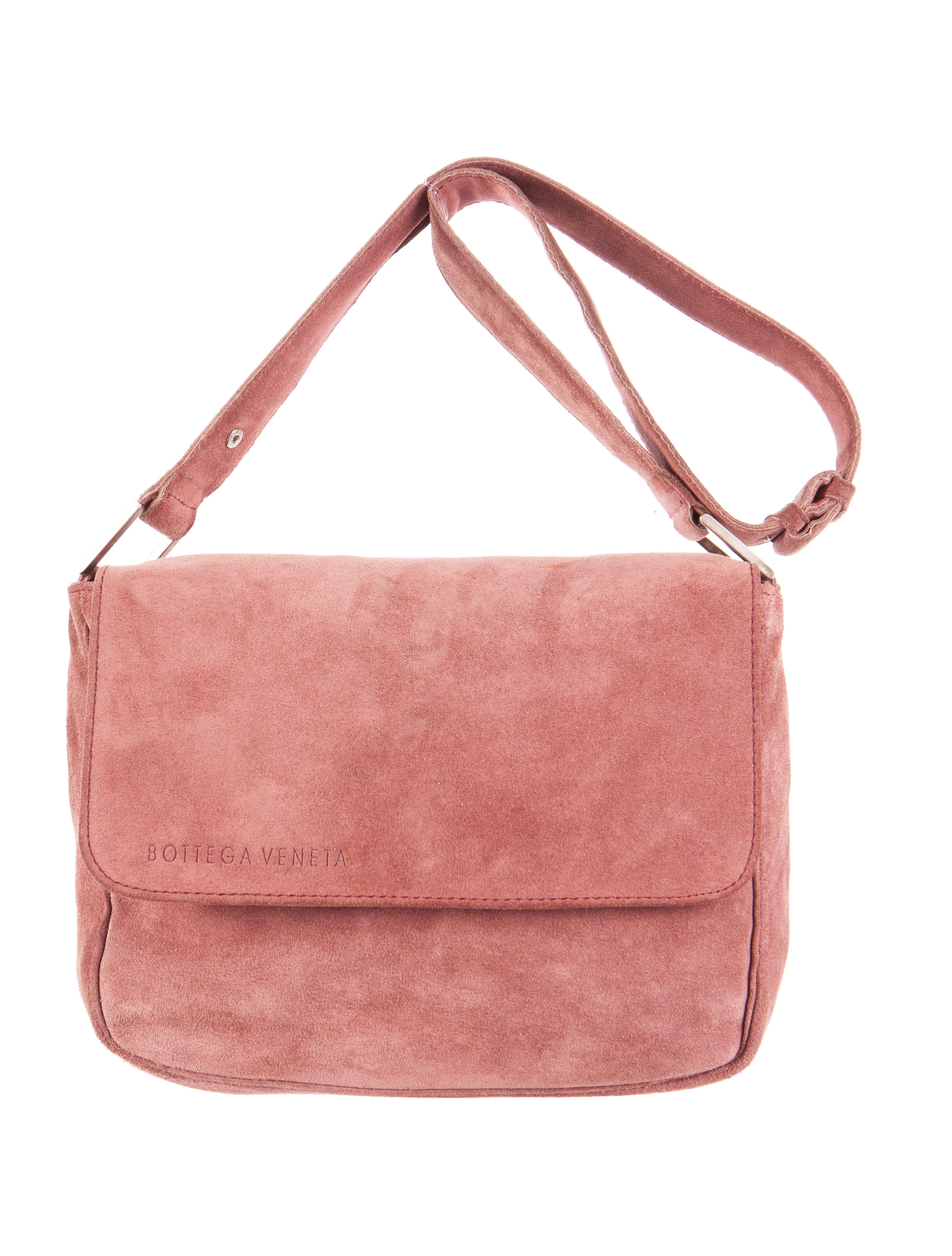 b28dc59185 Brown suede Bottega Veneta vintage shoulder bag with antiqued silver-tone  hardware