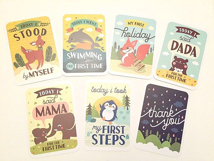 3-in-1 Gift Set - Baby Milestone Memory Cards in Keepsake Box with - baby milestones chart template