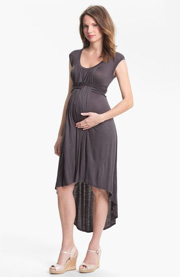 Japanese Weekend Maternity High/Low Dress: Every mom-to-be needs a go-to comfortable dress that she can slip on when she doesn't feel like thinking about what to wear. Japanese Weekend's Maternity High/Low Dress ($118) is just that, with its soft fabric, basket-weave ruching details, and flattering design.