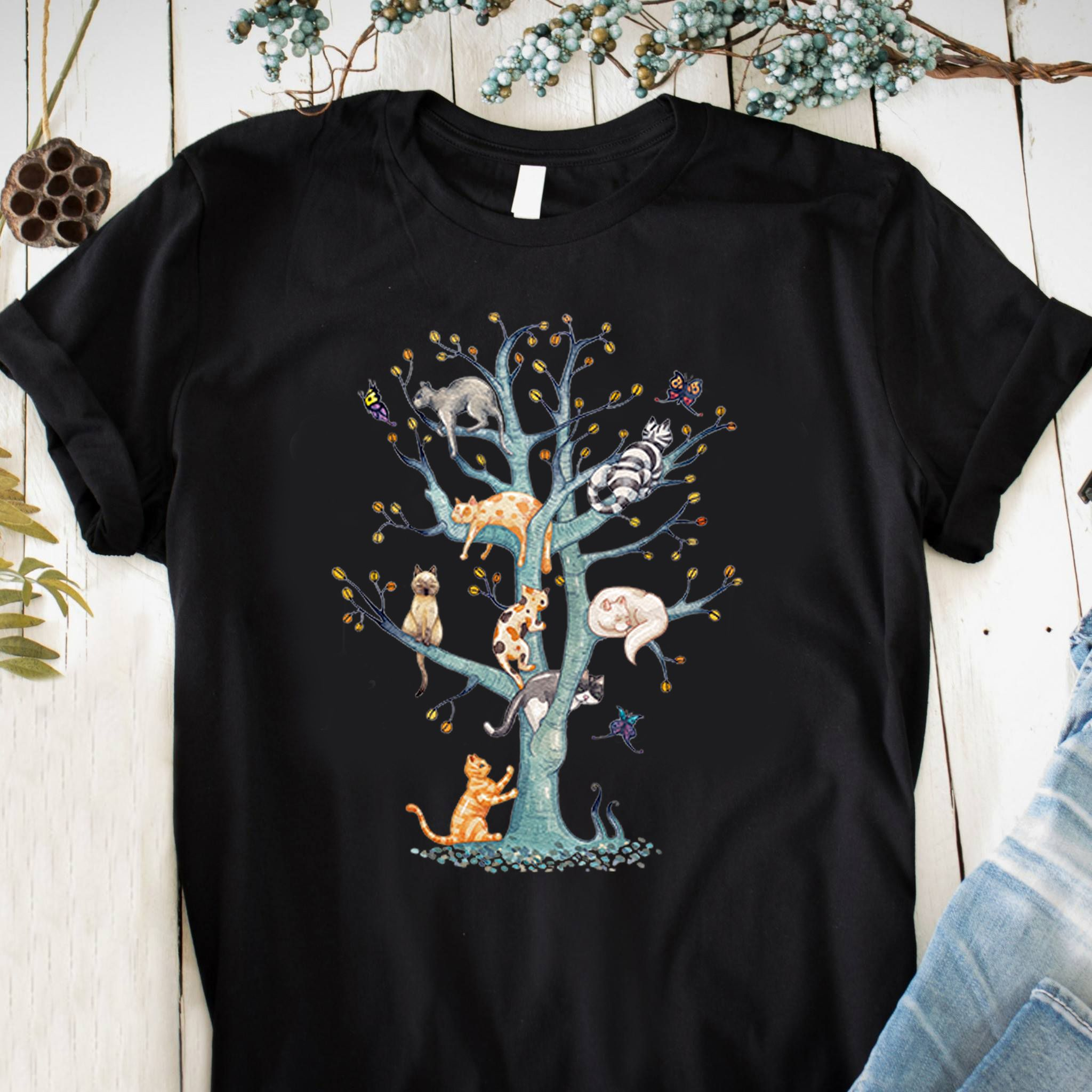 167f66d2 Cats Family Tree T Shirts #Cat #lover Tee shirt is perfect gift who love