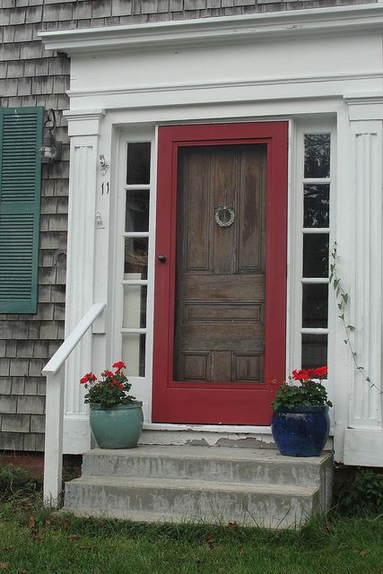 Greek revival style door cod cape and greek for Cape cod front door styles
