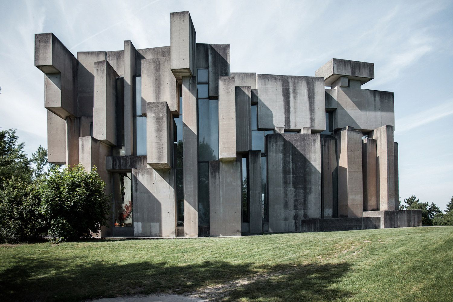 This Amazing Brutalist Church Is Built Like a Jenga Tower