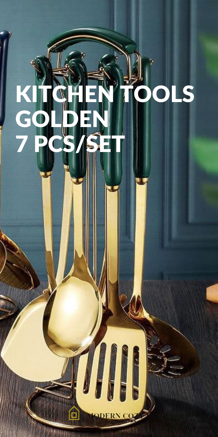 Kitchen Tools Golden 7 Pcs Set Gold Kitchen Utensils Gold Kitchen Kitchen Tools