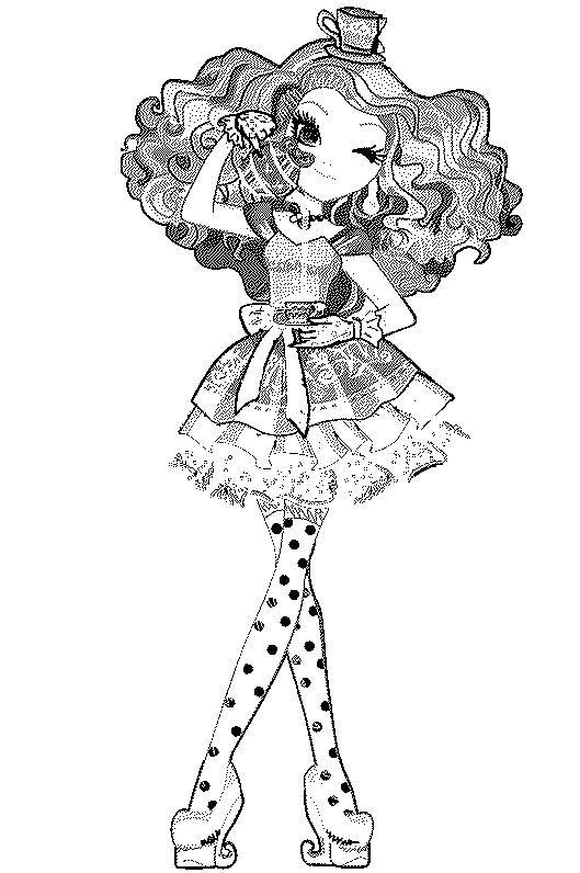 madeline-hatter coloring pages. | Cool printables | Pinterest