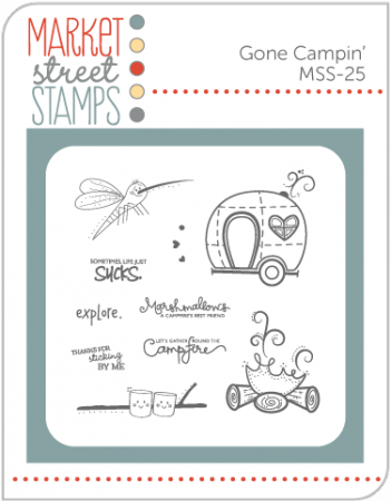 market street stamps gone campin' set